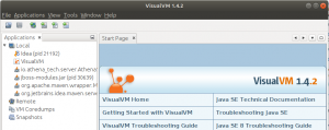 All running Java apps in VisualVM